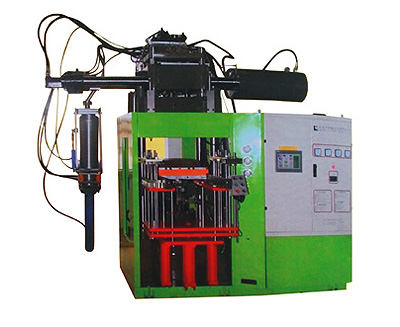 First in first out horizontal silicone injection molding machine