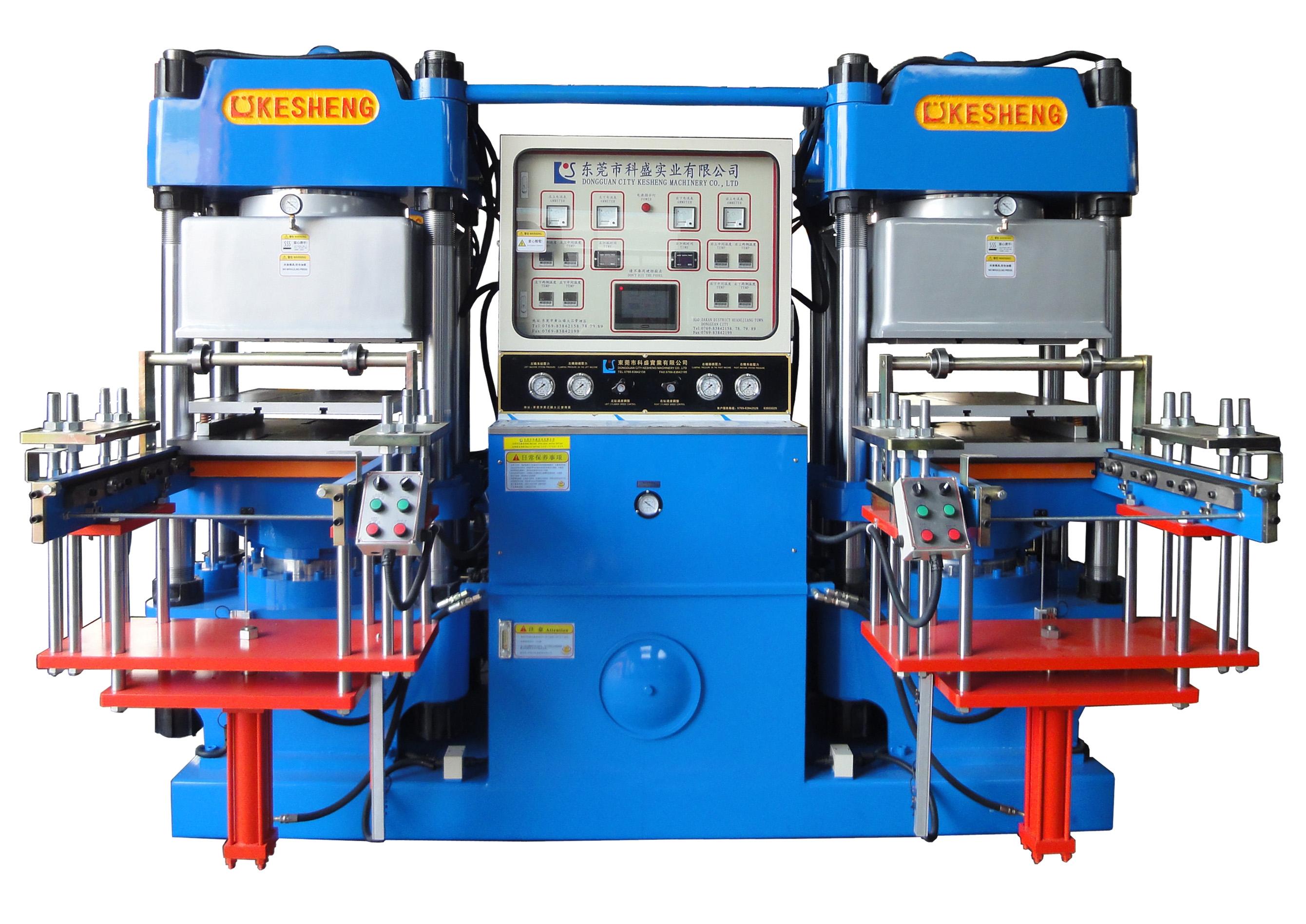 高精密度雙油泵全自動前頂2RT開模油壓成型機