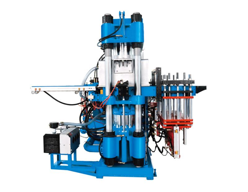 高精密度双油泵全自动快速真空前顶4RT开模油压硫化机